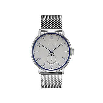 Ted Baker Owen Quartz Blue Dial Silver Mesh Stainless Steel MensWatch TE50278002