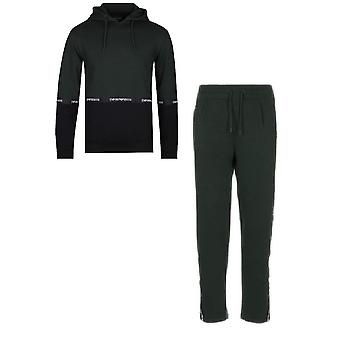 Emporio Armani Cotton Pullover Hooded Navy Tracksuit