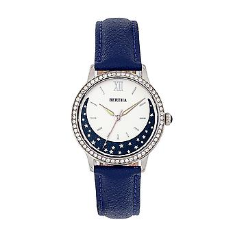 Bertha Dolly Leather-Band Watch - Blue