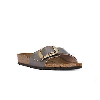 Birkenstock madryt duża klamra taupe calz sandały