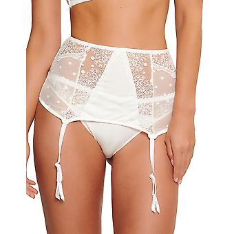 LingaDore 5028D-252 Women's Labrya Off White Lace Garter Belt High Waist Suspender Belt