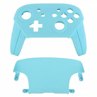 Replacement housing shell for nintendo switch pro controllers front & back cover hard soft touch - light blue | zedlabz