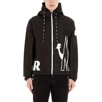 Moncler 1a71500549ml999 Men's Black Nylon Outerwear Jacket
