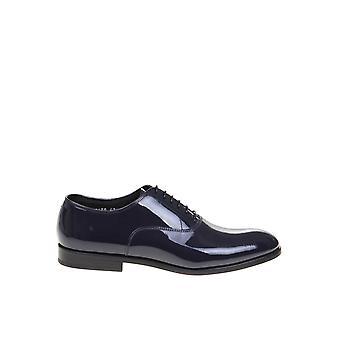 Doucal's Du2630rennuf018nb00 Men's Blue Patent Leather Lace-up Shoes