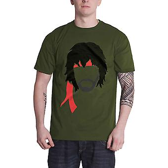 First Blood T Shirt Stallone Bandana new Official Studiocanal Mens Green