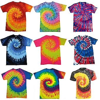 Colortone Womens/Ladies Rainbow Tie-Dye Short Sleeve Heavyweight T-Shirt