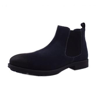 S.Oliver Helsinki Men's 15401 Casual Chelsea Boot Style In Navy