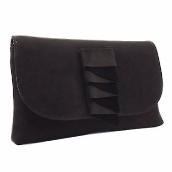 Peter Kaiser Karla Stylish Clutch Bag In Carbon Suede