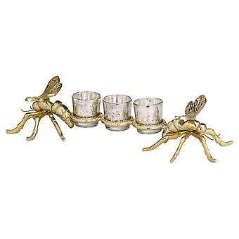 Hill Interiors Brass Large Dragonfly Tealight Holders