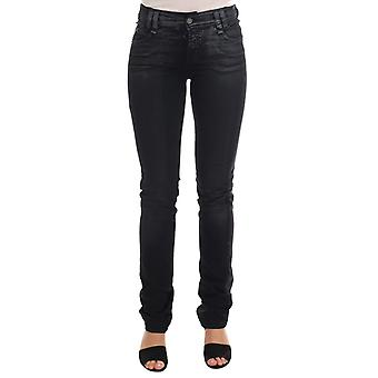 Gray wash cotton stretch regular fit jeans