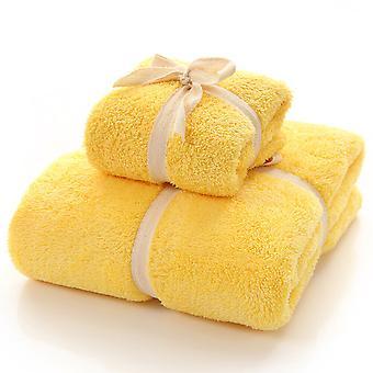 Bath Towel Set Includes 1 Bath Towels and 1 Washcloths Coral fleece Towels for Bathroom, Shower, Spa