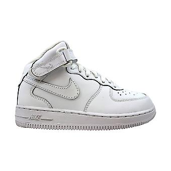 Nike Force 1 Mid White/White 314196-113 Pre-School