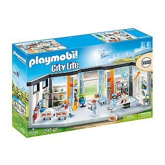 playmobil 70191 city life hospital wing playset 297pcs for ages 4 and above
