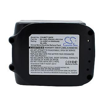 Μπαταρία μπαταρίας για MAKITA BL1415 BL1430 196875-4 και m. Μπαταρία αντικατάστασης ιόντων ιόντων