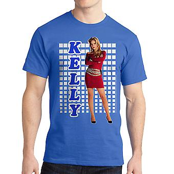 Married With Children Kelly Tight Red Dress Men's Royal Blue T-shirt