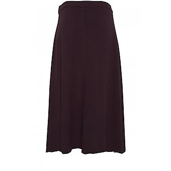 b.young Purple Fine Knit Skirt