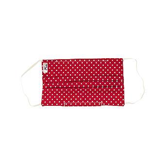 Mio WNS5 Sweet Spot Rood en Wit Polka Dot Katoenen Gezichtsmasker met afneembare neusdraad