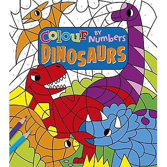 Colour by Numbers - Dinosaurs by Claire Stamper - 9781789503753 Book
