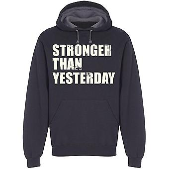 Stronger Than Yesterday Grunge  Hoodie Men's -Image by Shutterstock