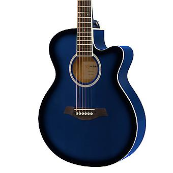 3/4 Acoustic Guitar by World Rhythm - Small Body Guitar for Beginners