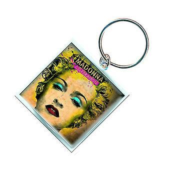 Madonna Keyring Keychain Celebration Logo Official New Silver