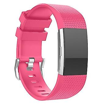 Replacement Wristband Bracelet Strap Band for Fitbit Charge 2 Classic Buckle[Hot Pink,Small] BUY 2 GET 1 FREE