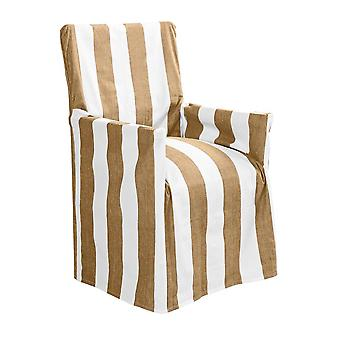 Outdoor Stripe Director Chair Cover Std Taupe