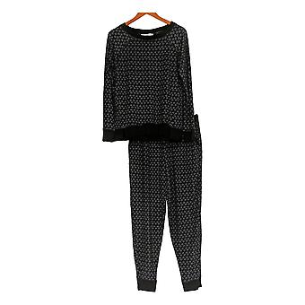 Carole Hochman Women's Pajama Set w/ Top & Bottoms Black A311252