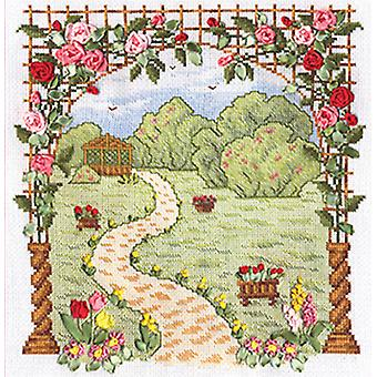 Panna Cross Stitch and Ribbon Embroidery Kit - Favourite Garden