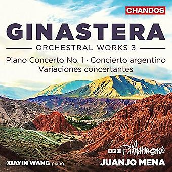 Ginastera / Wang - Orchestra Works 3 [CD] USA import