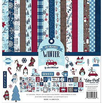 Echo Park My Favorite Winter 12x12 Inch Collection Kit