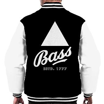 Bass Estd 1777 Black Triangle Men's Varsity Jacket