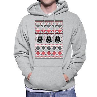 Star Wars Christmas Darth Vader Knit Pattern Hommes-apos;s Sweatshirt à capuchon