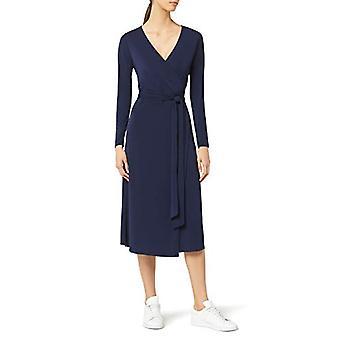 MERAKI Women's Wrap Dress, Navy, EU S (US 4-6)