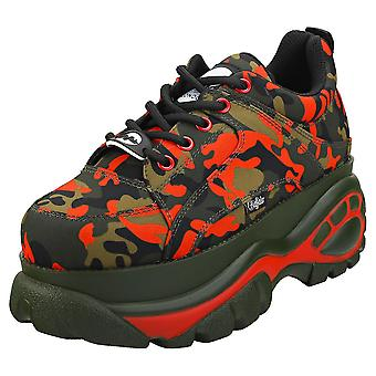 Buffalo 1338-14 Womens Platform Trainers in Camouflage
