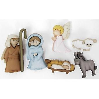 Dress it Up – Christmas Nativity Buttons