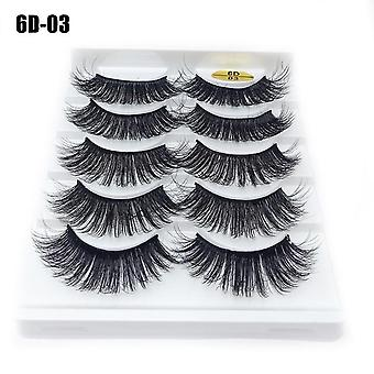 Mink Hair False Eyelashes Thick Natural Handmade Eye Makeup