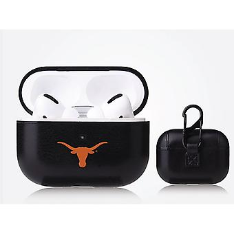 Texas Longhorns NCAA Fan Brander Zwart Lederen AirPod Pro Case