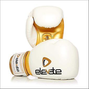Elevate pu boxing gloves - white gold