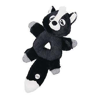 Gloria Donut Shaped Raccoon Plush Squeaky Dog Toy