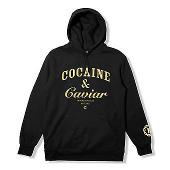 Crooks & Castles Cocaine & Caviar Pullover Hoodie Black Gold