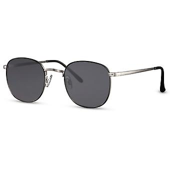 Sunglasses unisex panto cat. 3 silver/black