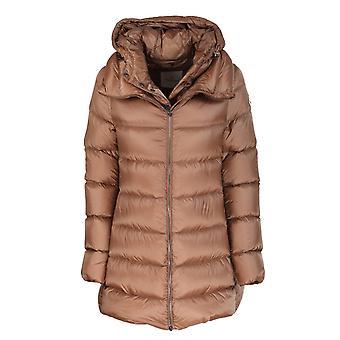 Moncler 1c20380c0229226 Women's Brown Nylon Down Jacket
