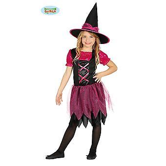 Guirca musta pink noita noita puku Halloween tyttö pukeutua