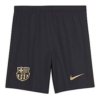 2020-2021 Barcelona Away Nike Voetbalshorsten Zwart (Kids)