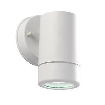 Saxby Icarus - 1 Lumière Extérieure Lumière Mur Blanc Polypropylène, Clear IP44, GU10