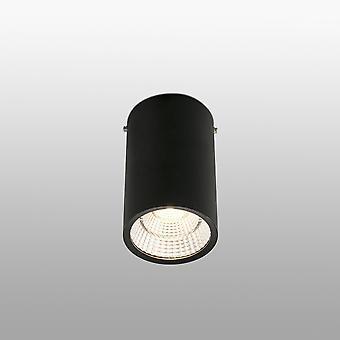 Faro Rel - LED 1 Light Round Surface Mounted Downlight Black