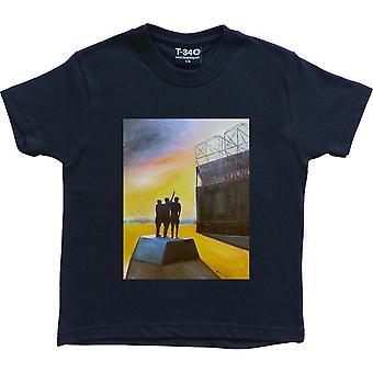 Hadrian Richards Old Trafford Navy Blue Kids' T-Shirt