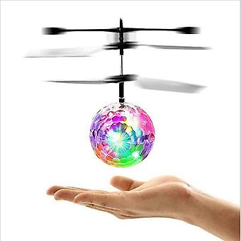 Children Outdoor Aircraft Toys Flying Rc Electric Ball Led Flashing Light Helicopter Induction Mind Control