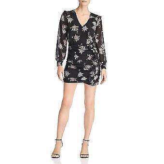 Heartloom | Floral Print Ruffled Long Sleeve Mini Dress